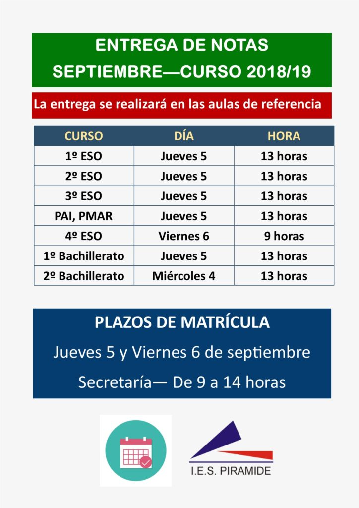 Educaragon Calendario Escolar 2020.I E S Piramide Huesca
